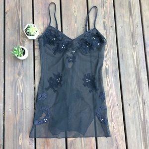 Victoria's Secret XS Black Lace Lingerie